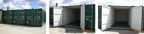 Storage containers for self storage of  documents, archive, home contents, motorbikes, jet ski's and sports equipment